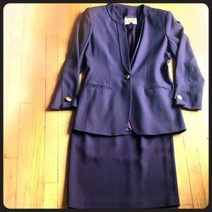 Vintage Kasper Business Suit, Eggplant Size 6